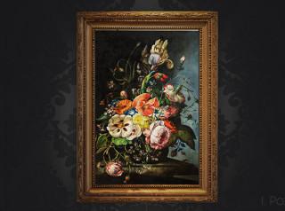 Kwiaty,olej, Irina Pozniak