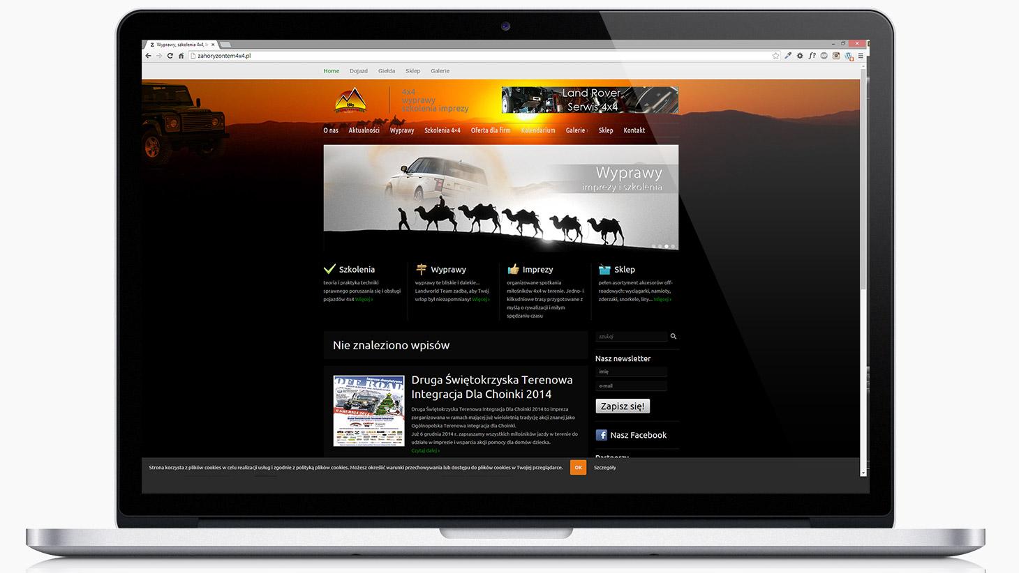strona www za horyzontem 4x4 | tomeson